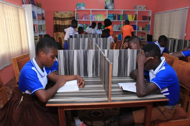 Awaso gets upgraded community library to improve reading